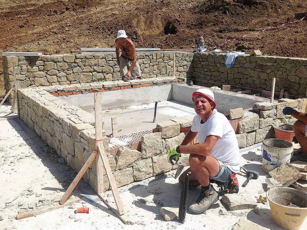 Arte del costruire muri murature in pietra gabriele - Costruire case in pietra ...