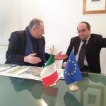 Kosovo_Gabriele_Pazzaglia_e_Ambasciatore_Italiano_Kosovo_Michael-Giffoni